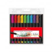 Brush Pen SuperSoft Faber-Castell c/10 cores