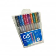 Caneta em gel 1.0mm Glitter Cis Trigel c/ 10 cores