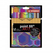 Caneta Point 88 0.4mm Arty Stabilo c/18 cores