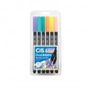 Dual Brush Cis Pastel c/6 cores