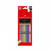 EcoLápis de cor Metallic Faber-Castell c/ 10 cores