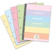 Folha para fichário - Happy colorida