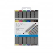 Marcador GRAF Duo Brush Cis c/6 cores básicas