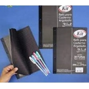Refil para caderno argolado Black