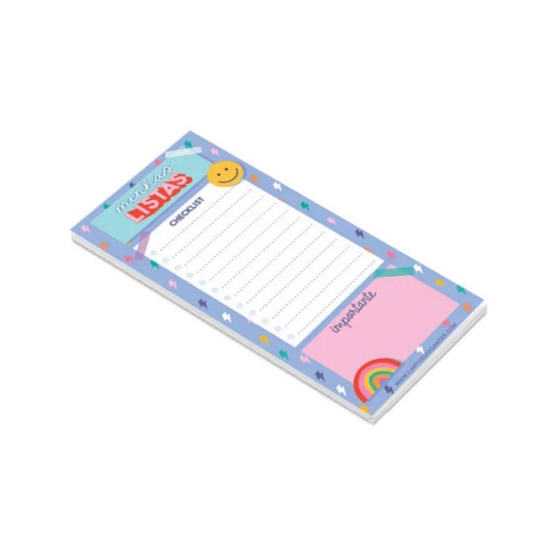 Bloco NotePad Magnético Cartões Gigantes Minhas Listas