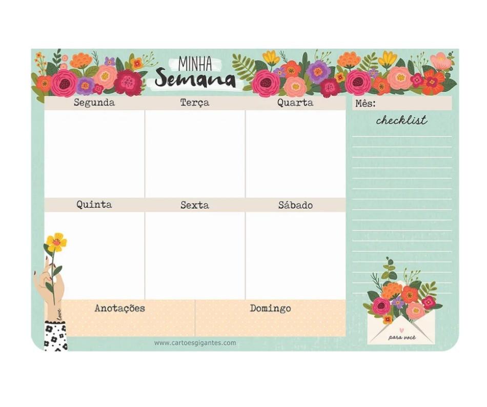 Bloco Planner Semanal
