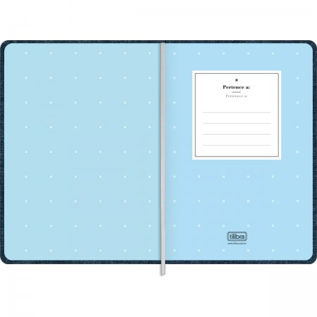 Caderno Fitto M Denim