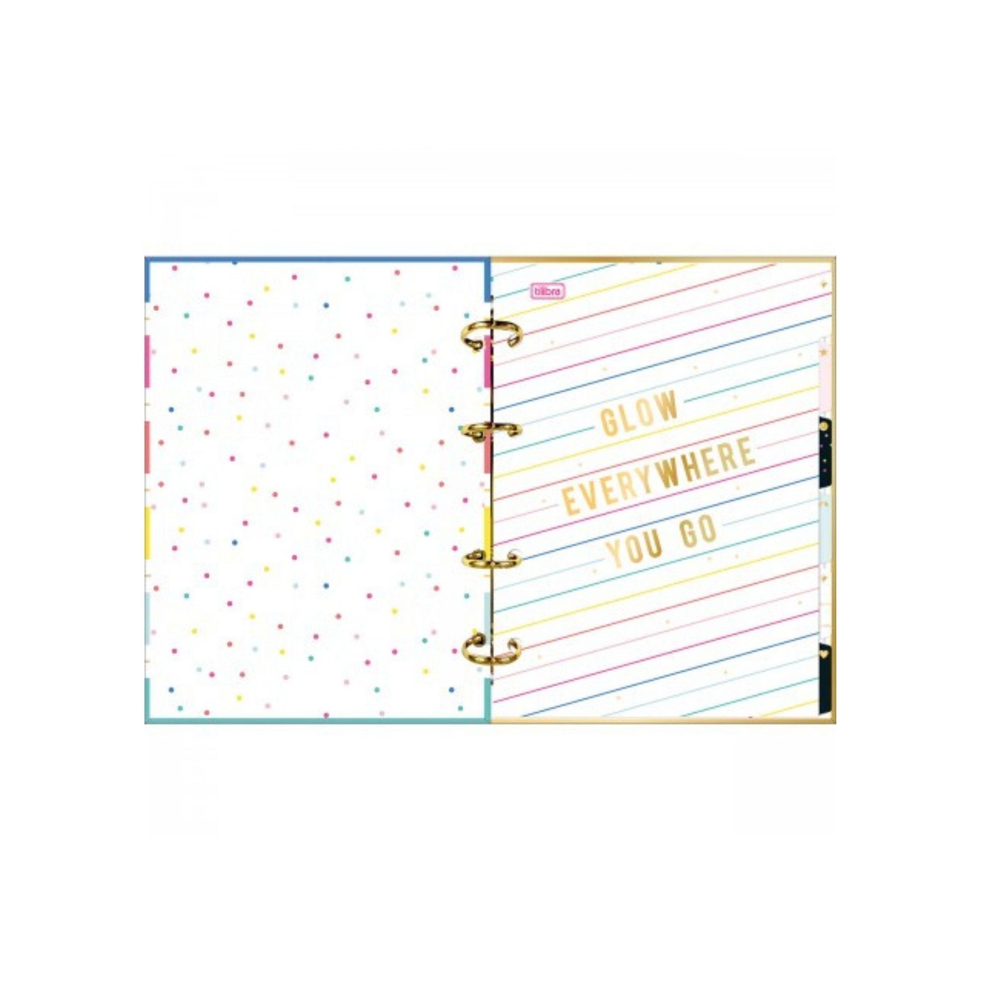 Caderno Argolado Cartonado Colegial Tilibra Be Nice