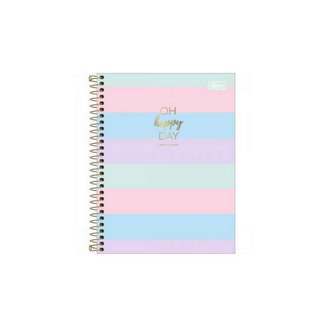 Caderno Colegial Happy Colorido 1M Tilibra