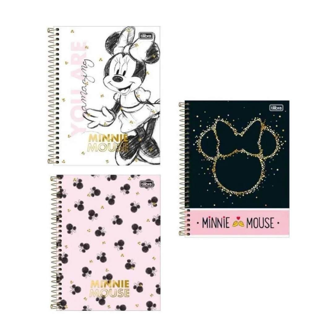 Caderno Colegial Minnie 1M Tilibra