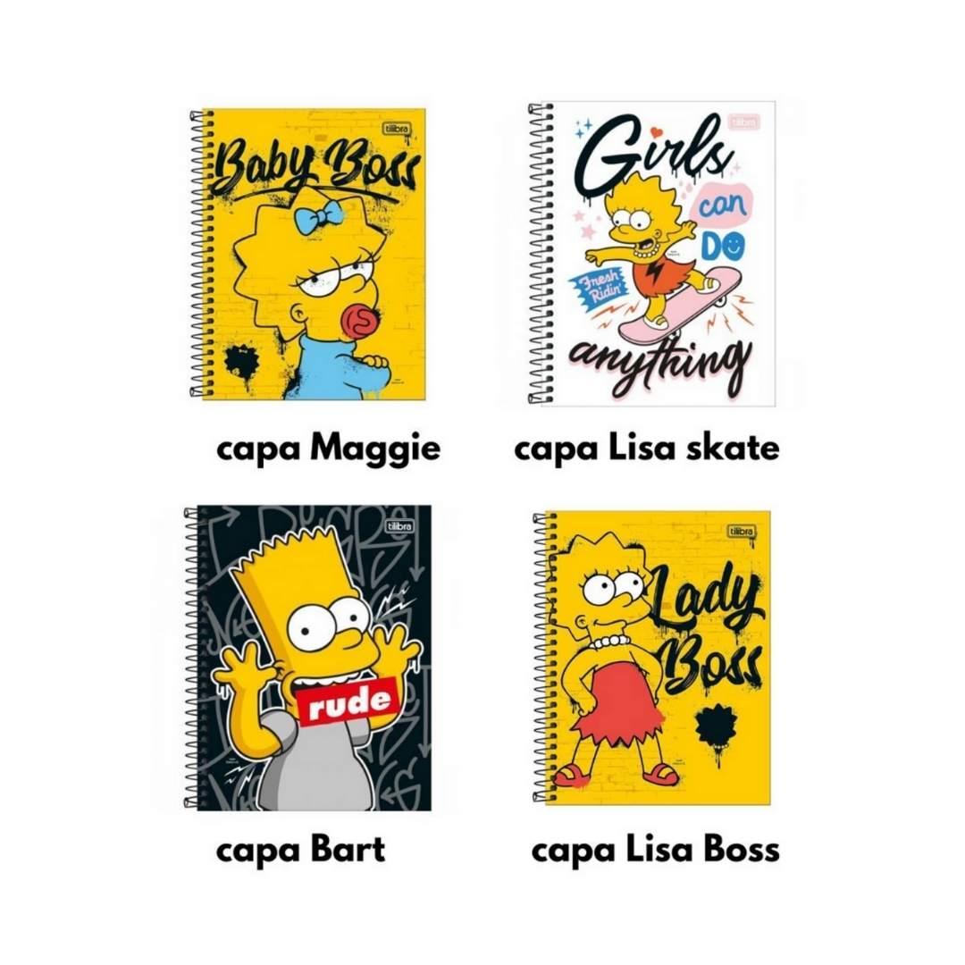 Caderno Colegial Simpsons 1M Tilibra