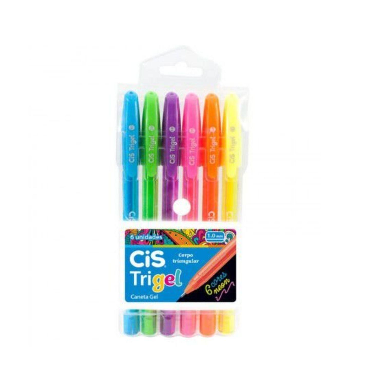 Caneta em gel 1.0mm Neon Cis Trigel