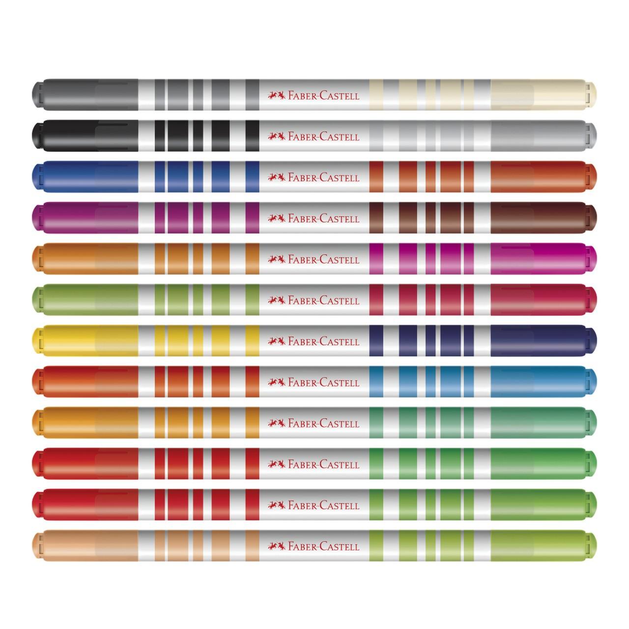 Canetinha Hidrografica Bicolor 12 Canetas = 24 Cores
