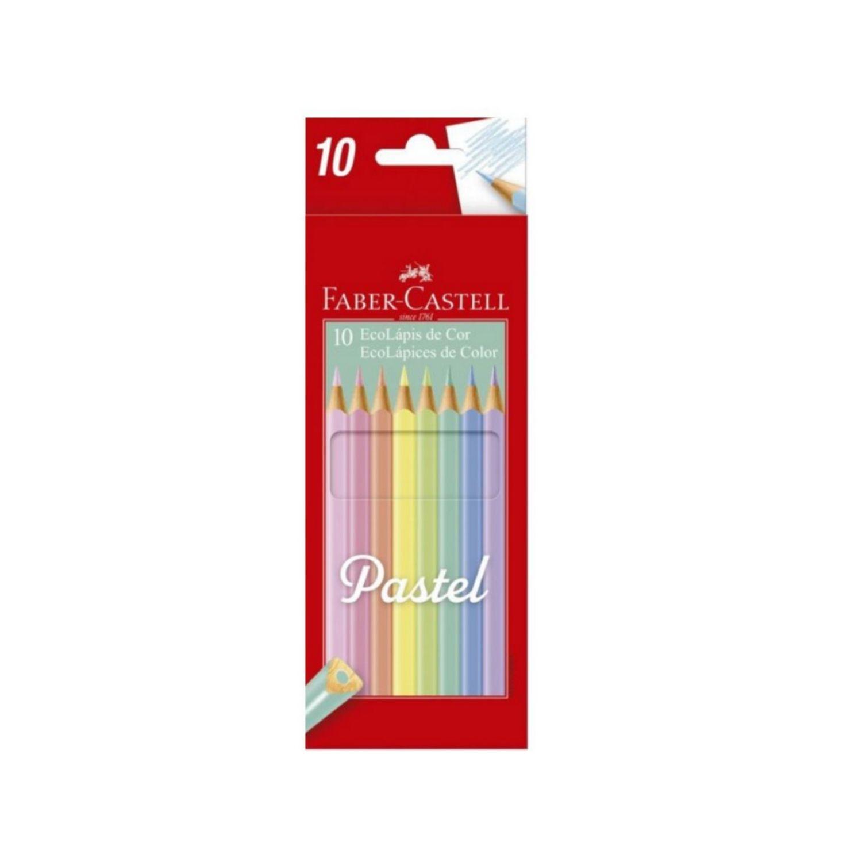 EcoLápis de cor Pastel Faber-Castell c/10 cores