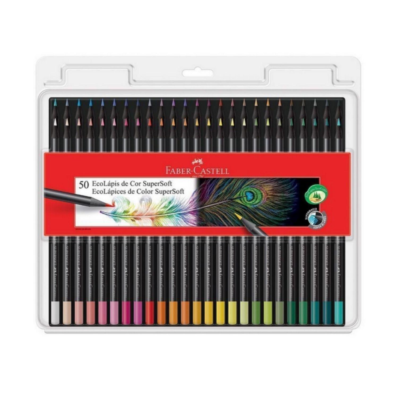 EcoLápis de cor SuperSoft Faber-Castell c/50 cores