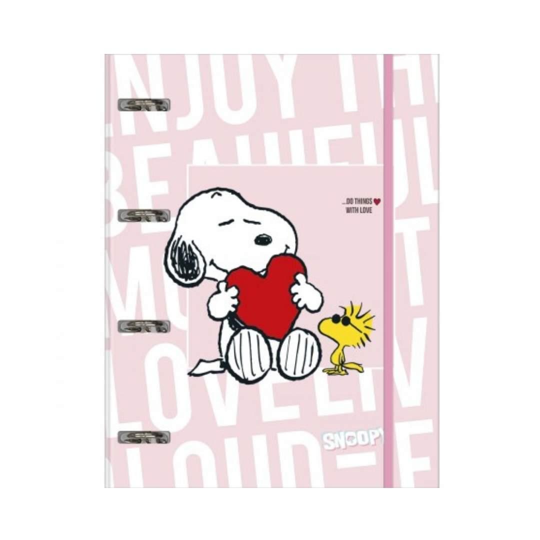 Fichário Tilibra Snoopy Rosa