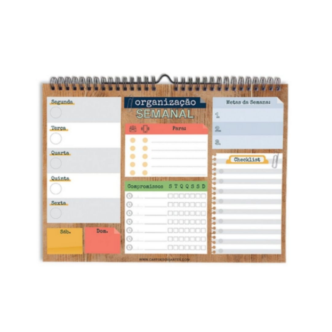 Organização Semanal Cartões Gigantes - Wall Planner