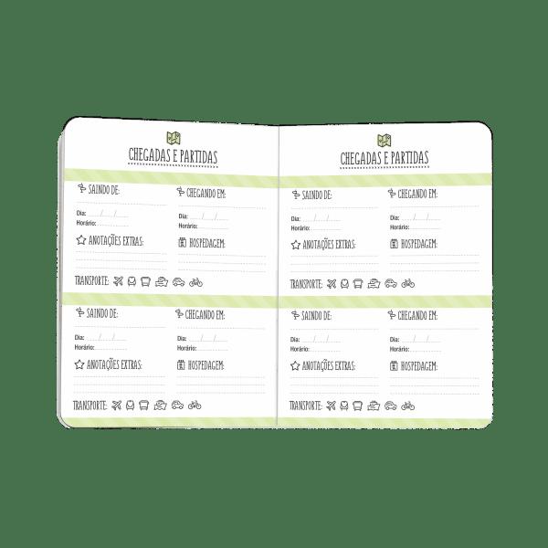 Planner Viagem Cartões Gigantes