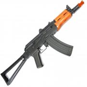 RIFLE DE AIRSOFT AEG REAL WOOD AK 74U ASK205 - APS