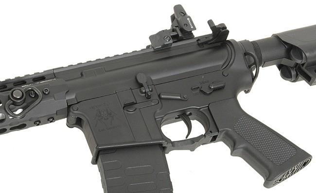 "RIFLE DE AIRSOFT AEG M4 10"" KEYMOD SPYDER FULL METAL BLOWBACK ASR114 - APS"