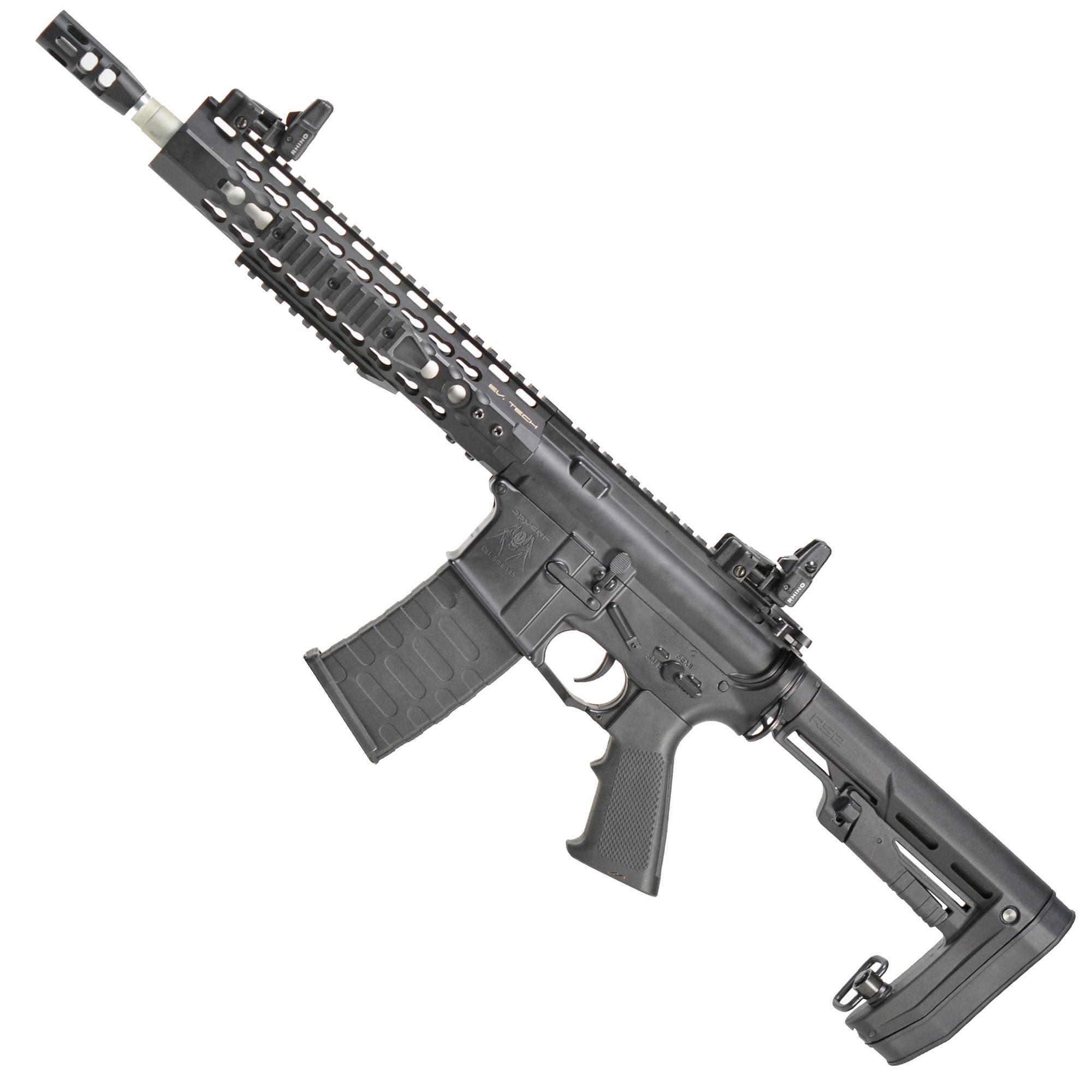 "RIFLE DE AIRSOFT AEG M4 10"" KEYMOD SPYDER FULL METAL BLOWBACK ASR114R2 - APS"