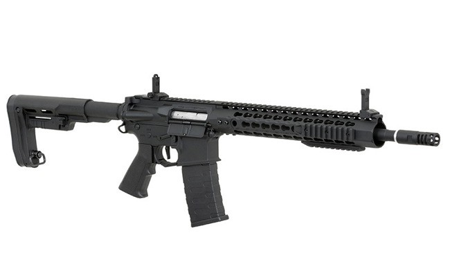 "RIFLE DE AIRSOFT AEG M4 12.5"" KEYMOD SPYDER FULL METAL BLOWBACK ASR115R2 - APS"