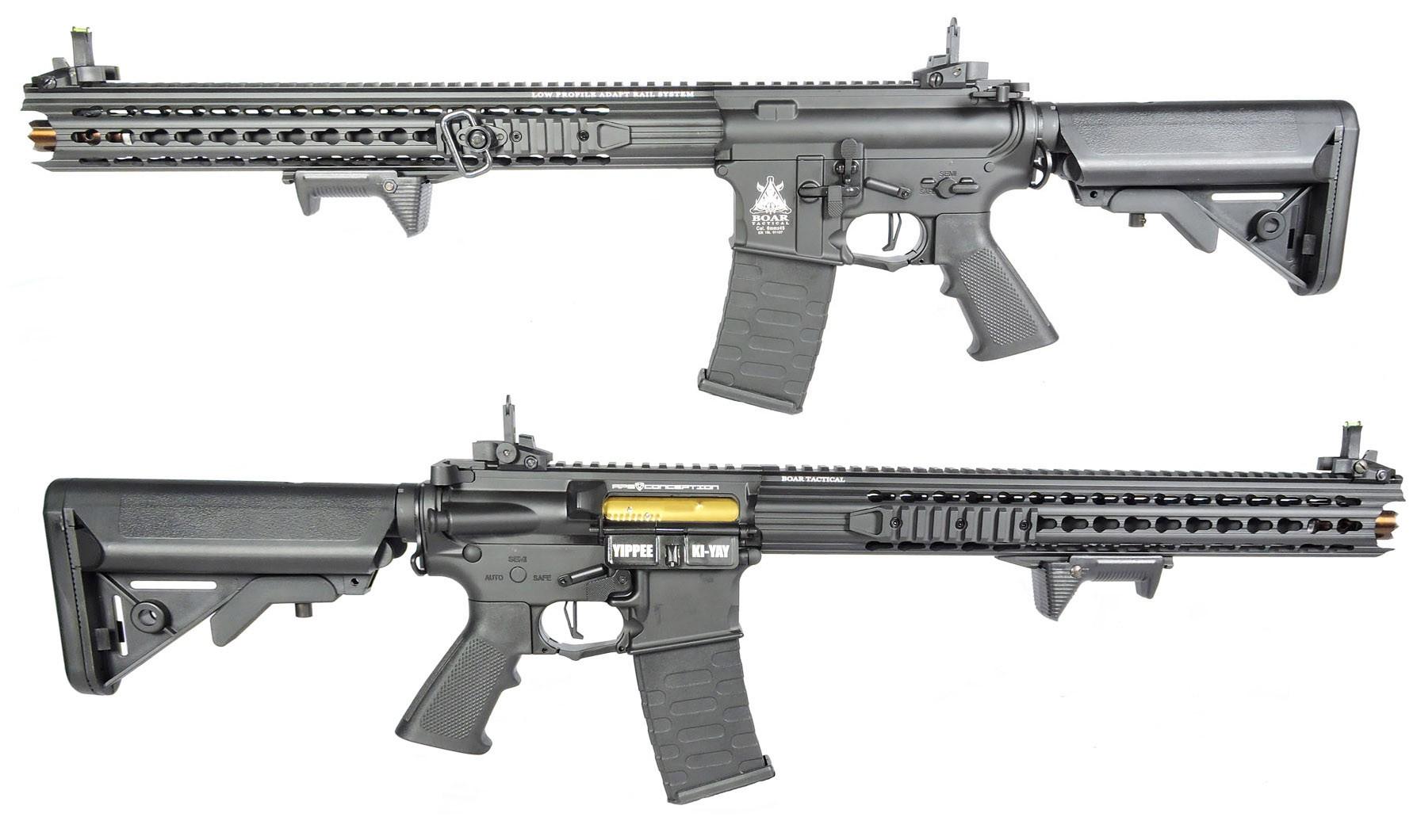 RIFLE DE AIRSOFT AEG M4 BOAR TACTICAL KEYMOD RIFLE FULL METAL BLOWBACK ASR117 - APS