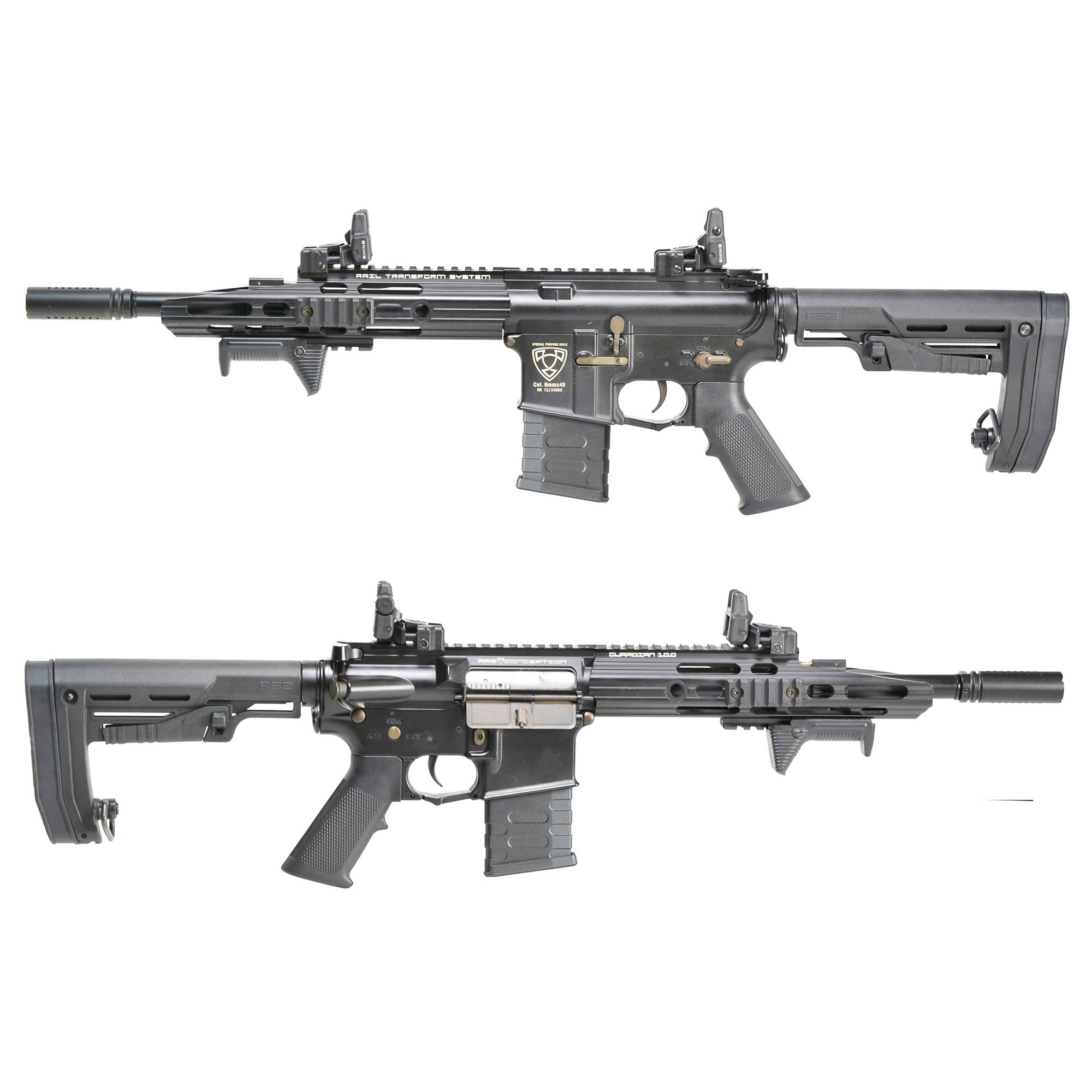 RIFLE DE AIRSOFT AEG M4 GUARDIAN TACTICAL STYLE FULL METAL BLOWBACK ASR111R2 - APS