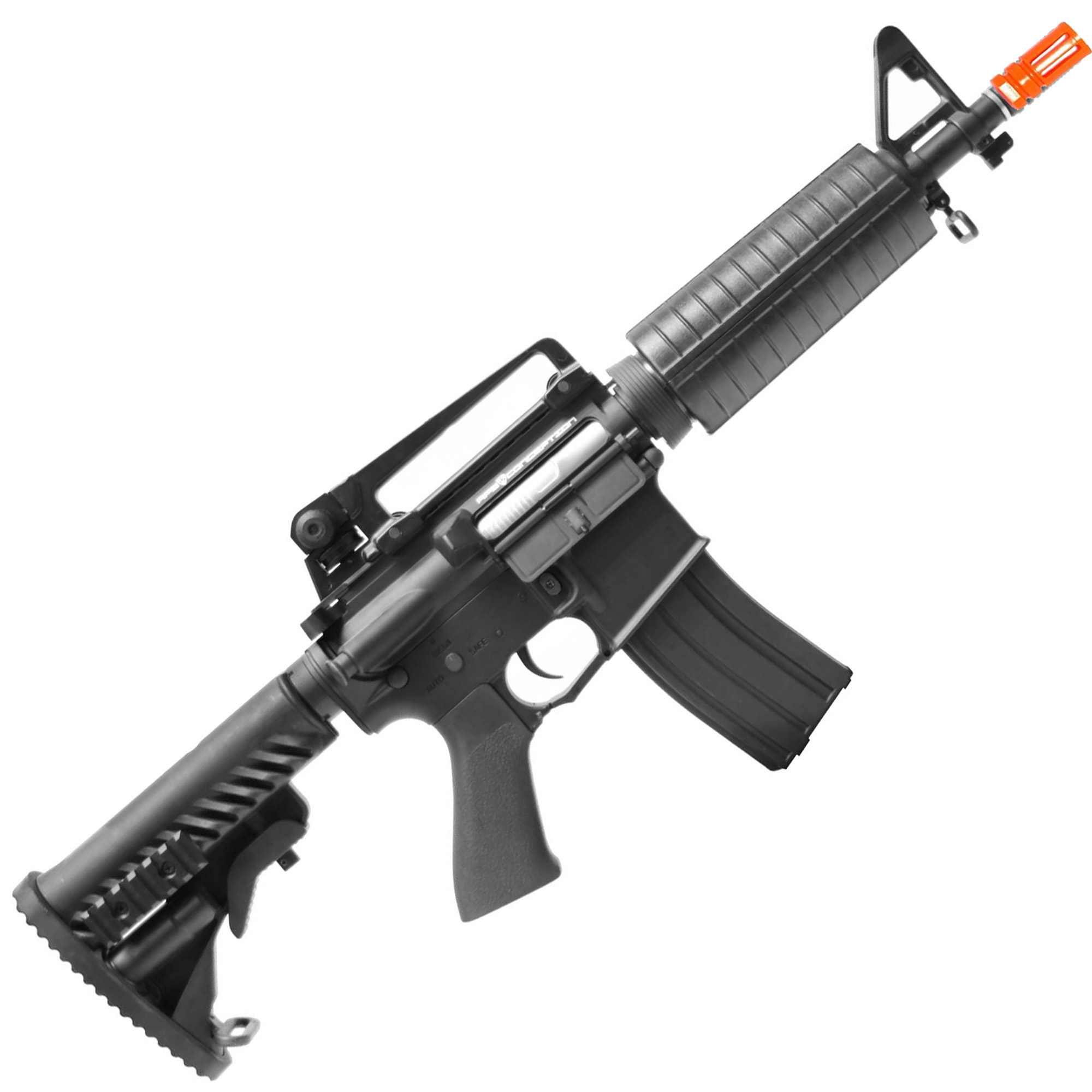 RIFLE DE AIRSOFT AEG M4 M933 STYLE FULL METAL COM BLOWBACK ASR105 - APS