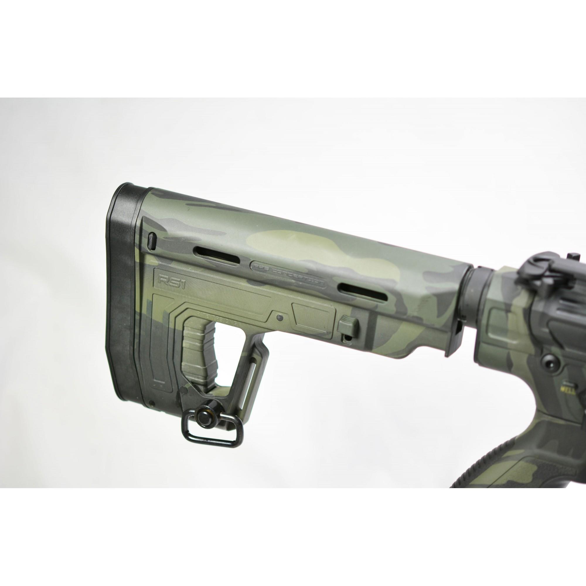 RIFLE DE AIRSOFT AEG M4 PHANTOM EXTREMIS RIFLES BK MULTI-CAM 12.5 FULL METAL BLOWBACK PER702BKMC MKII - APS