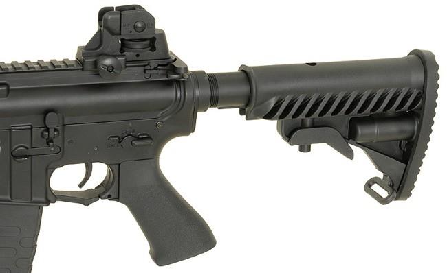 RIFLE DE AIRSOFT AEG M4 RIS STYLE FULL METAL COM BLOWBACK ASR104 - APS