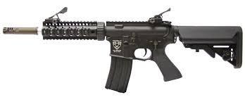 RIFLE DE AIRSOFT AEG M4 S.ARMATUS STYLE FULL METAL COM BLOWBACK ASR109 - APS