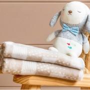 Cobertor Patchwork Bebe • Bege