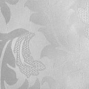 Cortina Branca Cetim Jacquard 5,50x2,80m com ilhós cromado exclusiva