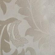 Cortina Marfim Cetim Jacquard 5,50x2,80m com ilhós cromado exclusiva