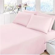 Jogo de cama casal Prata rosa