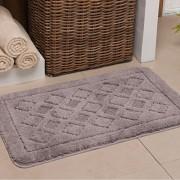 Tapete de banheiro antiderrapante 40x60cm • Cinza