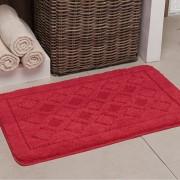 Tapete de banheiro antiderrapante 40x60cm • Vermelha