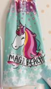 Toalha de praia aveludada infantil 70 x 140 cm Magic