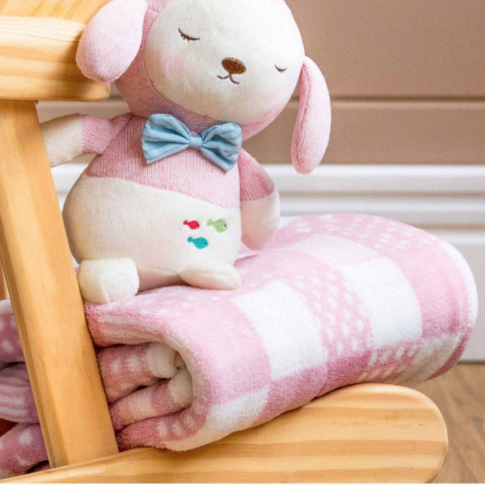 Cobertor Patchwork Bebe • Rosa