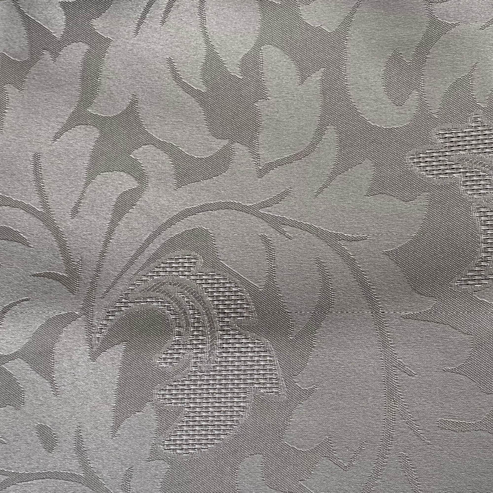 Cortina Prata Cetim Jacquard 5,50x2,80m com ilhós cromado exclusiva