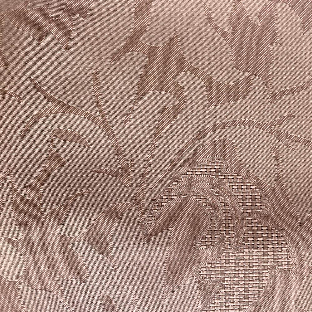 Cortina Rosê Cetim Jacquard 5,50x2,80m com ilhós cromado exclusiva