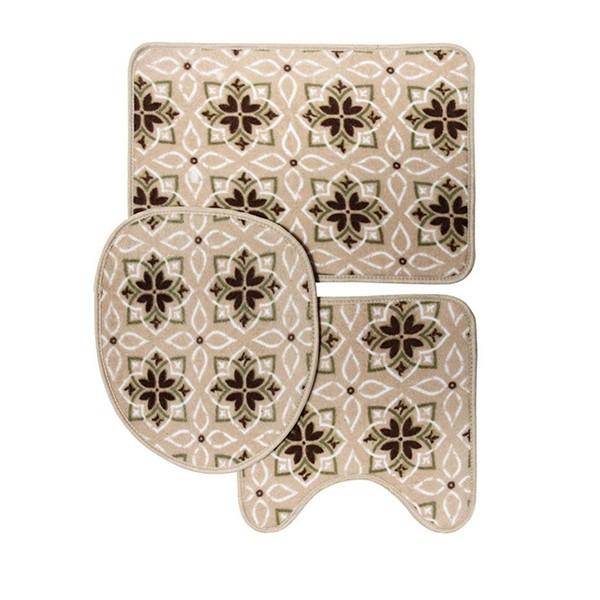 Jogo de banheiro 3 peças Loop – Corttex – Importado Thiva Bege