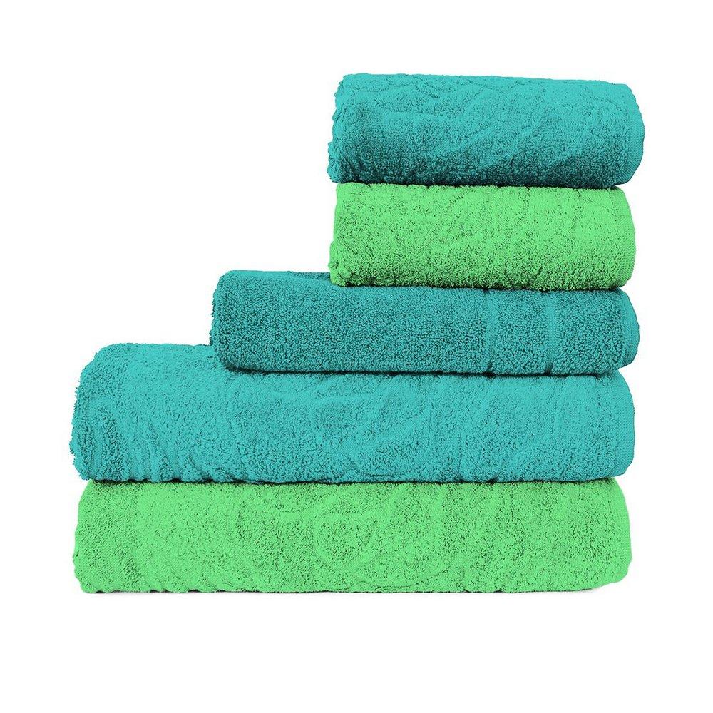 Jogo de Banheiro Atlântica: toalhas + tapete • Verde