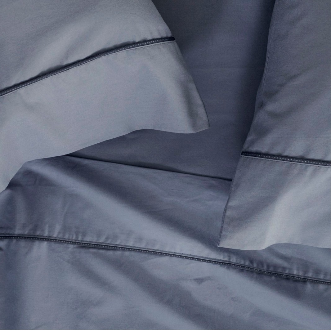 Jogo de Cama Casal / Queen / King Total Mix clean Azul