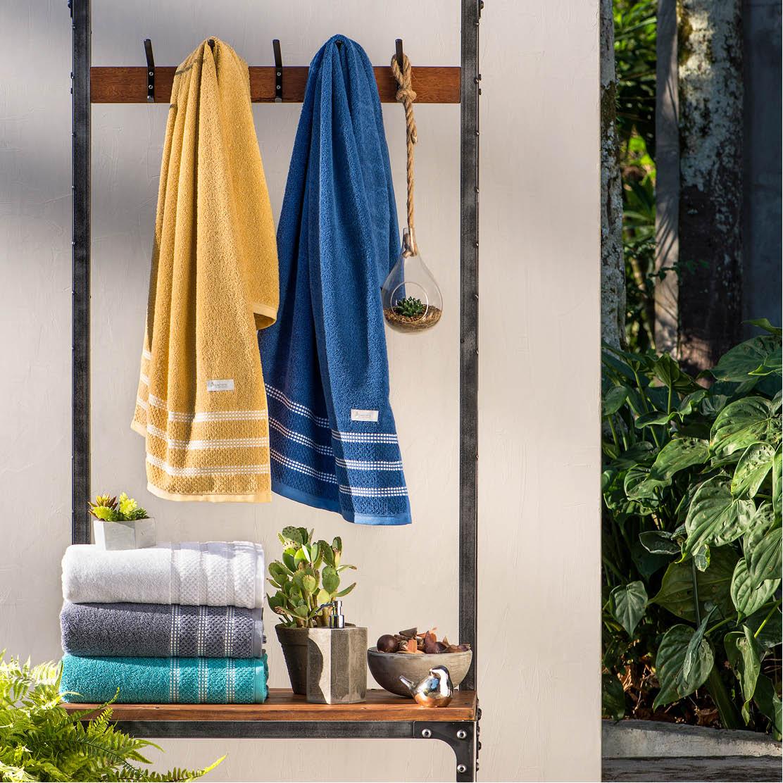 Toalha Avulsa Unique • Disponível Rosto / Banho • Amarelo mostarda