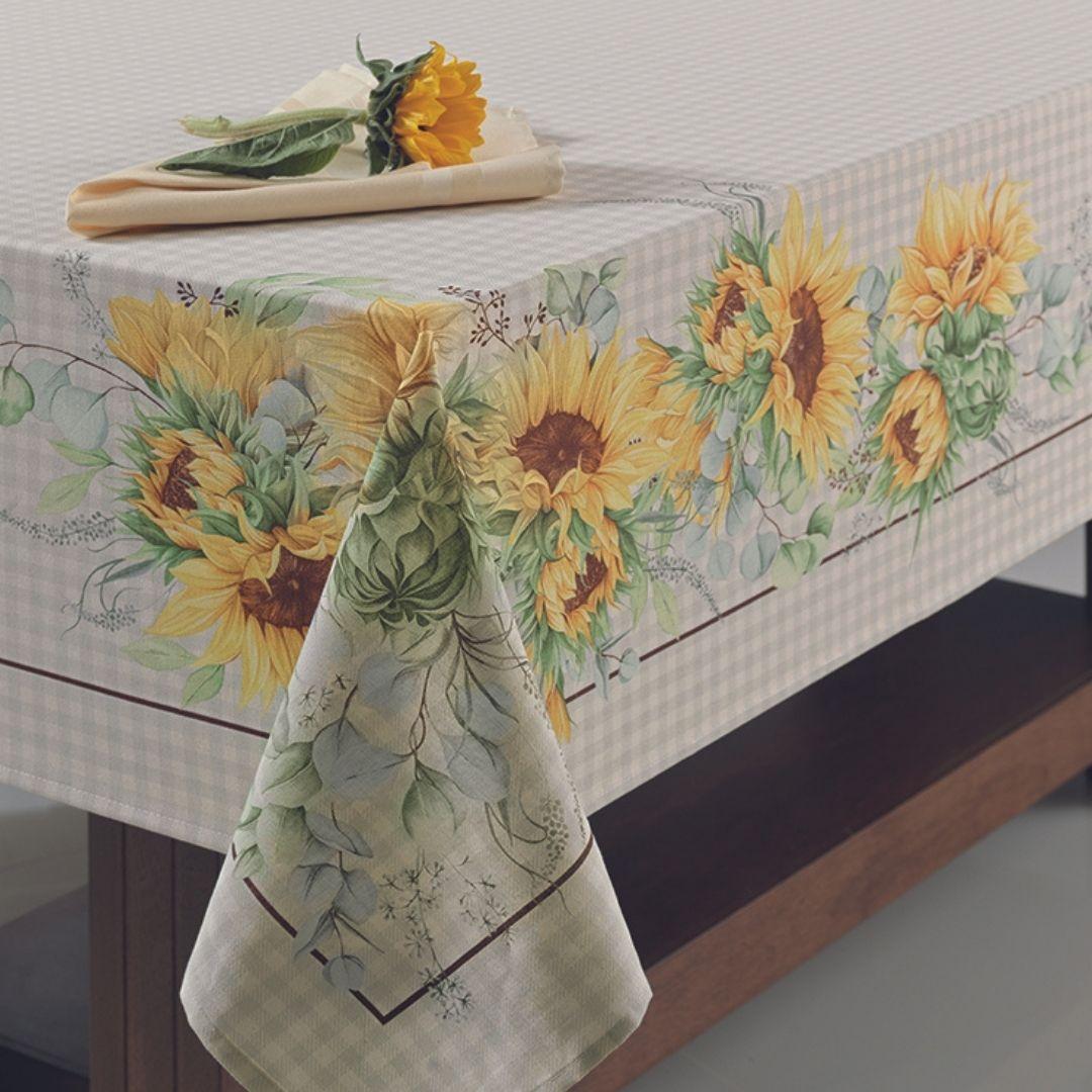 Toalha De Mesa Karsten Flor do Sol Vários Tamanhos