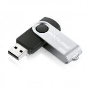 Pen Drive Multilaser Twist, USB 2.0, 16GB, Preto e Prata - PD588
