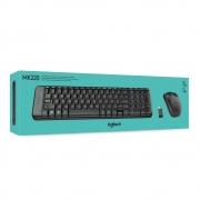Teclado e Mouse Logitech MK220 Sem Fio ABNT2