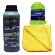 Shampoo Monster Cadillac 2l + Luva Microfibra + Flanela